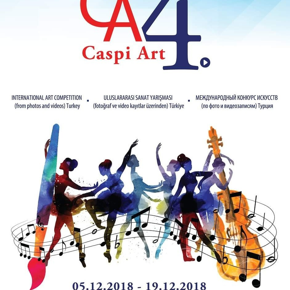 Poster of the international art competetion  in Turkey