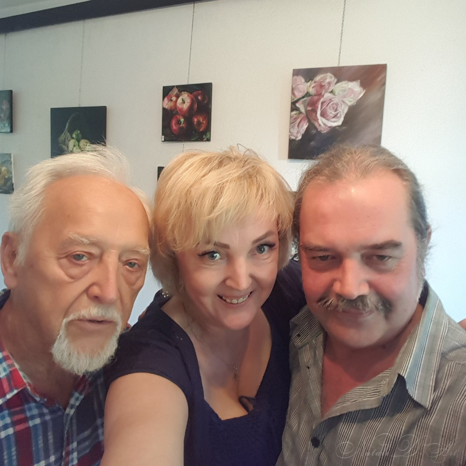 Pan Janusz, me and my friend  artistTigran