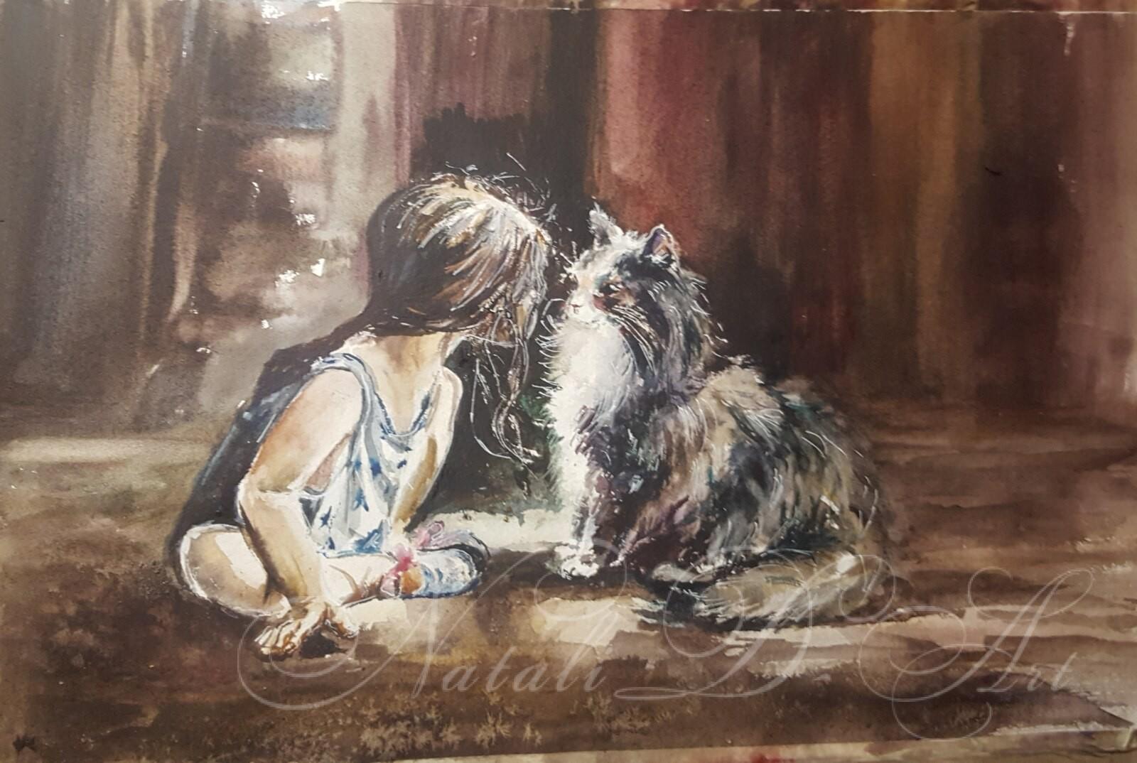 My watercolors