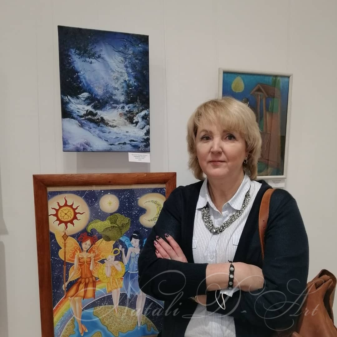 At the opening of the exhibition